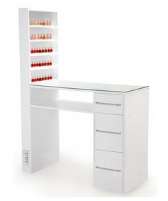Mona Lisa Manicure Table in White from Buy-Rite Beauty