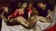 Ludovico Carracci (1555–1619), The Lamentation, ca. 1582;  Oil on canvas, 95.3 x 172.7 cm | The Metropolitan Museum of Art