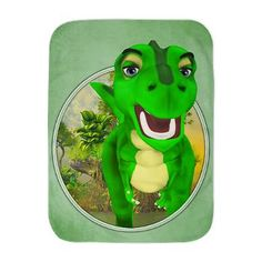 Gatterwe: T-Rex Journal: A funny green cartoon dino in the jungle! Soft Baby Blankets, T Rex, A Funny, Unique Gifts, Journal, Templates, Cartoon, Green, Fill