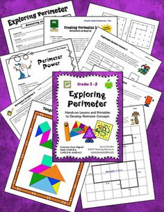 Exploring Perimeter by Laura Candler - Comprehensive resource for developing and practicing perimeter concepts. Includes a wide variety of printables, lesson directions, and hands-on activitie, so it's a great tool for differentiating instruction. CCSS aligned with 3.MD.B.4, 3.MD.D.8, and 4.MD.A.3. $