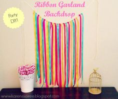 Ribbon Garland Backdrop ~ Karen's Soiree