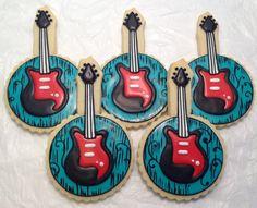 SweetTweets - Rock Star Guitar Cookies