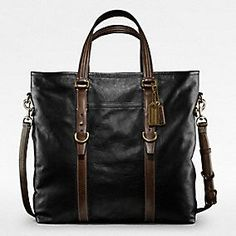 COACH - HARRISON LEATHER TOTE