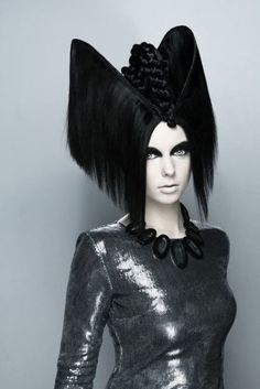 Avant garde extreme updo hairstyle