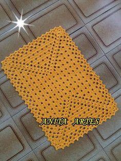 Crochet Paso A Paso Aprender 63 New Ideas Crochet Squares, Crochet Motif, Crochet Doilies, Crochet Stitches, Crochet Patterns, Crochet Placemats, Crochet Table Runner, Crochet Carpet, Crochet Home