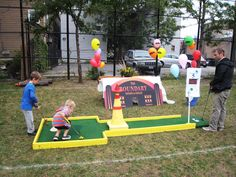 Indoor or outdoor anywhere mini golf. Chicago party rentals.