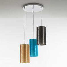 Italian design smoked glass pendant lamp Loca by Tomasucci