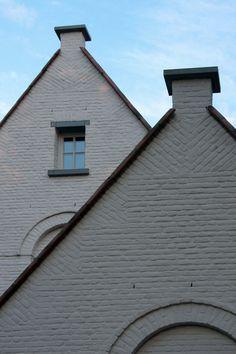 Mortar washed brick