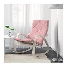 POÄNG Rocking chair, white, Edum pink Edum pink white