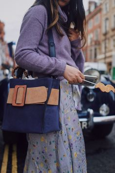 All purplr street style at LFW SS18 | SweetChiliFashion