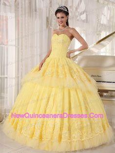 yellow sweet 16 dress