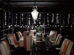 Wine Room/Dining Room - Austin Ranch by Jeffrey Alan Marks Home Building Design, Building A House, Austin Ranch, Barrel Ceiling, Home Wine Cellars, Wine Tasting Room, Interior Architecture, Interior Design, Elegant Dining Room