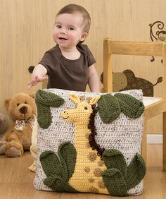 Free pattern  Ravelry: Giraffe Pillow Crochet Pattern pattern by Michele Wilcox