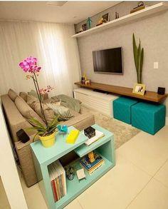 Novel Small Living Room Design and Decor Ideas that Aren't Cramped - Di Home Design Room Design, Decor, House Interior, Small Living Room Decor, Apartment Decor, Home, Home N Decor, Home Decor, Living Room Designs