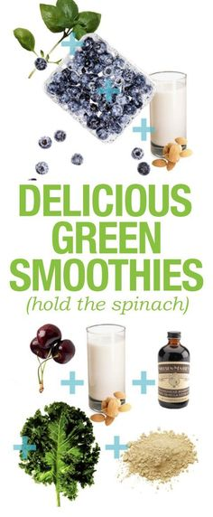 Tasty smoothies that don't have spinach.