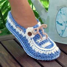 Adult Button Loafers Crochet Pattern - Foter