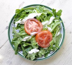Green Salad with Blue Cheese Dressing