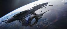 """Refuel and Resupply"" by #NickForeman.  #sciencefiction #spaceship #scifi"