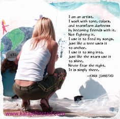 Quote by singer-songwriter and visionary Kara Johnstad. Traveling at the speed of love. http://www.karajohnstad.com