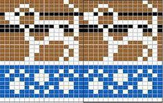 Cross Stitch Cards, Simple Cross Stitch, Cross Stitch Embroidery, Cross Stitch Patterns, Knitting Charts, Knitting Stitches, Baby Knitting, Knitting Patterns, Fair Isle Chart