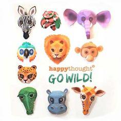 DIY wild animal mask templates costume ideas!