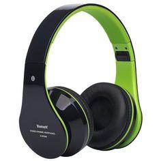 Foldable Wireless Bluetooth Stereo Headset Hands-free Headphone Mic TF Card F