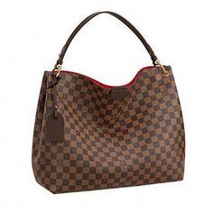 2598 - Louis Vuitton Damier Ebene Graceful MM Tote Handbag Article N44045   Designerhandbags Sacs 49562f9d82a