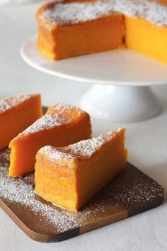 Recipe for wet carrot cake. Portuguese Desserts, Portuguese Recipes, Sweet Recipes, Cake Recipes, Dessert Recipes, Food Porn, Sweet Cakes, No Bake Desserts, Love Food