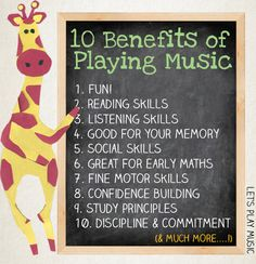 Ten Benefits Of Music lessons and why your child should learn music from an early age. Let's Play Music