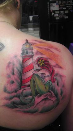 mermaid and lighthouse tattoos - Google Search
