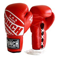 Lace Up Boxing Gloves Australia - Competition | Punch Equipment