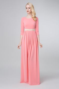 SADONI evening dress ZARA in soft coral jersey
