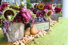 Purple and green Fall table by Heather Christo