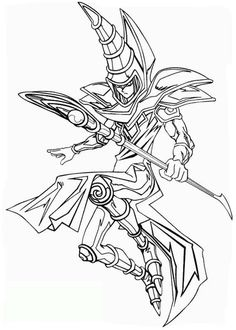 Yu Gi Oh Card Coloring Pages Free - Yu Gi Oh cartoon coloring pages Monster Coloring Pages, Cartoon Coloring Pages, Coloring Book Pages, Coloring Pages For Kids, Anime Character Drawing, Character Art, Dessin Yu Gi Oh, Yugioh Tattoo, Tattoo Sketches