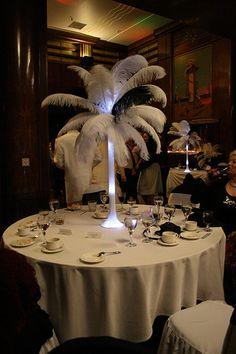 Feather Table Decor