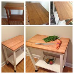 Rolling cutting board cabinet. gonna have baby make me one of ...