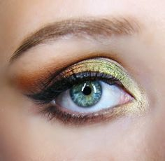 Make you green eyes pop with this 'Foiled Fanatic' look by MadeleineGraceMakeupArtistry using Makeup Geek's Flame Thrower, Jester, Magic Act and Showtime foiled eyeshadows.