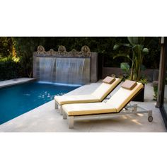 "Luma Adjustable Chaise Lounge - Frame: Anodized Aluminum Polyboard: Dolphin Grey Seat Cushion: Snow White, Sand, Frost Grey, Chocolate, Nutmeg or Lime Finish: Fabric.  Dimension: Width: 24"" x Length: 81"" x Height: 10.25"" Overall Height: 35"" http://www.opad.com/modern-outdoor-luma-adjustable-chaise-lounge.html"