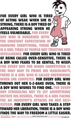 for all girls and boys, women and men