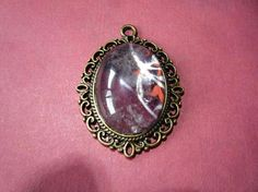 Metalic Crystal Pendant 1 1/2 by 1 Chain
