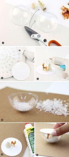 Snow Globe Mason Jar Topper | Damask Love. such a cute idea