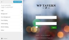 Customize Your Login Page Using the WordPress Customizer http://wptavern.com/customize-your-login-page-using-the-wordpress-customizer