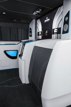 Brabus consolidates technology in its latest Business Lounge van Benz Sprinter, Private Jet, Car Seats, Lounge, Technology, Business, Design, Airport Lounge, Tech