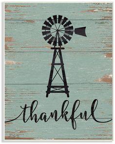 Stupell Industries Thankful Vintage-Inspired Windmill Wall Plaque Art, 10 x 15 Windmill Drawing, Windmill Art, Windmill Wall Decor, Farm Windmill, Canvas Wall Art, Wall Art Prints, Poster Prints, Posters, Wall Plaques
