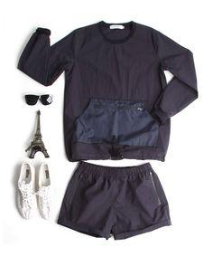 윈드브레이커 바람막이 맨투맨티+5부 밴딩반바지 세트-setup01 - [존클락]30대 남자옷쇼핑몰, 깔끔한 캐쥬얼 데일리룩, 추천코디