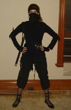 40 best ninja costumes images on pinterest ninja costumes cool ninja costume ballet flats lots of straps to keep clothes from catching while on diy solutioingenieria Image collections