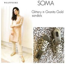 Granita Gold Sandals featured with @sapphirepakistan outfit✨  Order Code: Granita Gold  Price: 3500 Pakistani Ruppee  Please order by filling out the order form on our Facebook page Or by emailing on  somaintl11@gmail.com, Call on 92135804944 : cell 923363799314  We need to your details listed below:  1- Name  2- Address  3- Phone no  4- Shoe size us uk euro or Pakistani  5- order code  6- Email address  We offer cash on delivery all over Pakistan. international shipping available at…