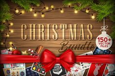 150 Christmas and New Years Vector Designs - only $15!