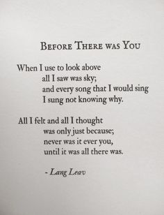 Before there was you - Lang leav