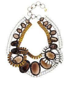 Iradj Moini Smoky Quartz and Crystal Necklace